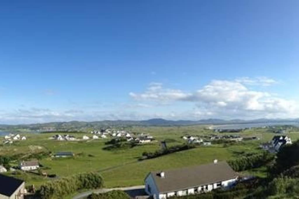 Outstanding view from our Folly . Overlooking Mulroy Bay , Sheephavens Bay and Rosepenna Golf Resort