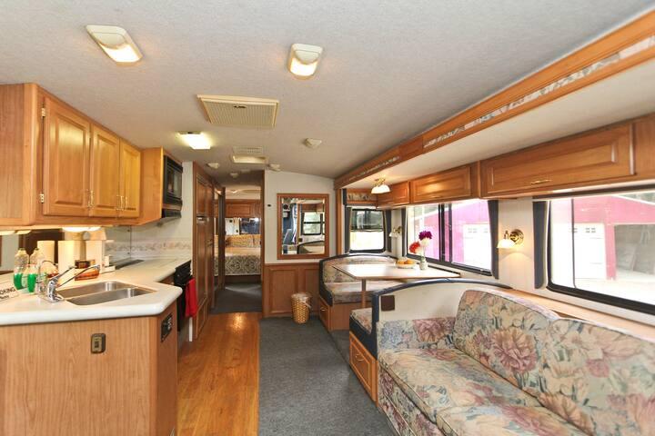 Motorhome on Organic Homestead - Ventura
