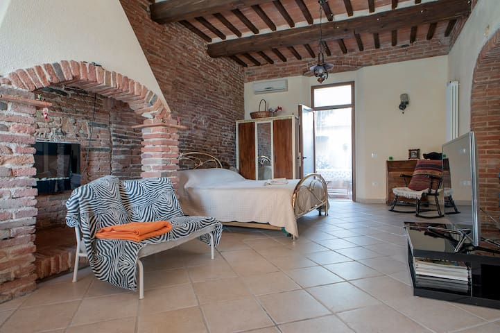 Rustic apartment in Tuscany for two.