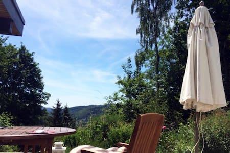 Ferienhaus mit Traumaussicht - 比登科普夫 (Biedenkopf) - 小平房