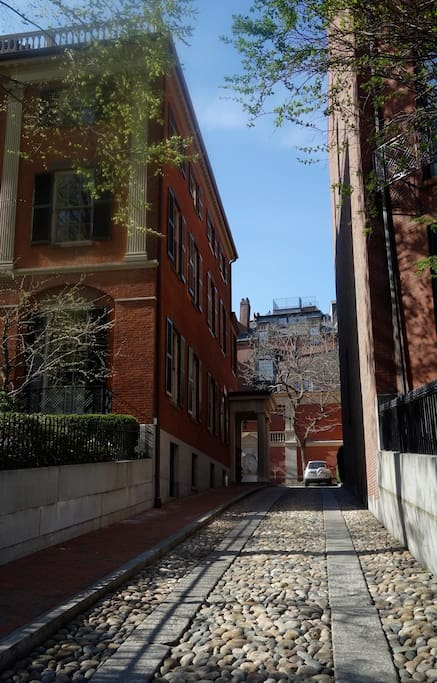 Beacon Hill Neighborhood - Cobblestones, Gas Lamps, Brick Sidewalks, Trees!