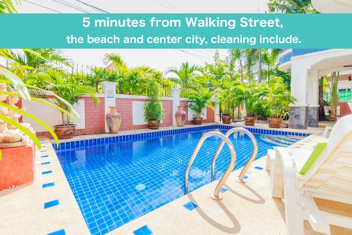 Villa 5 bedrooms 5 min Walking Street & beach