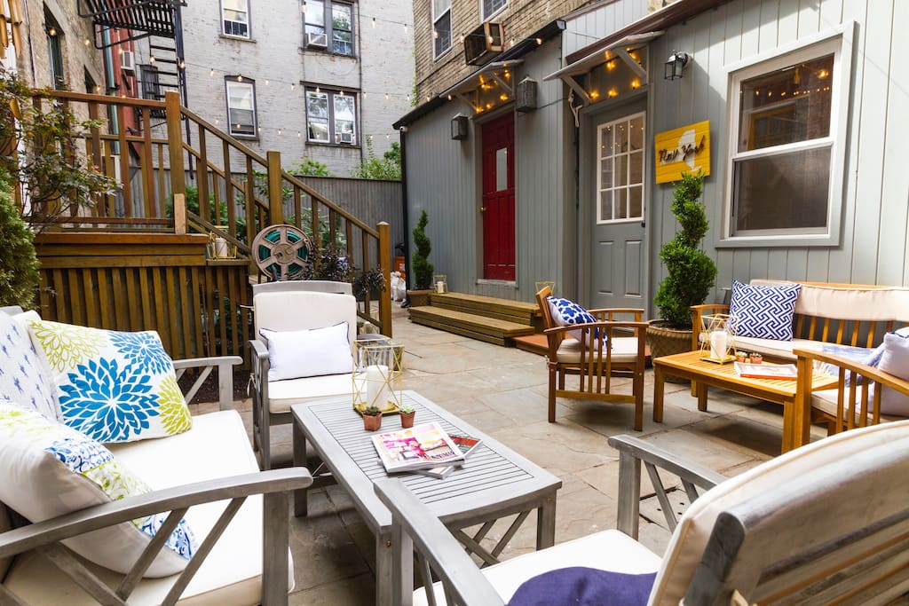 Private Courtyard w. abundant space, Weber Gas Grill, Dining & Conversation Areas