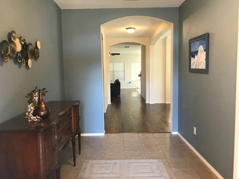 Hallway from the front door