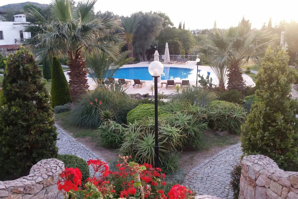 Wonderful landscape and a large swimming pool..