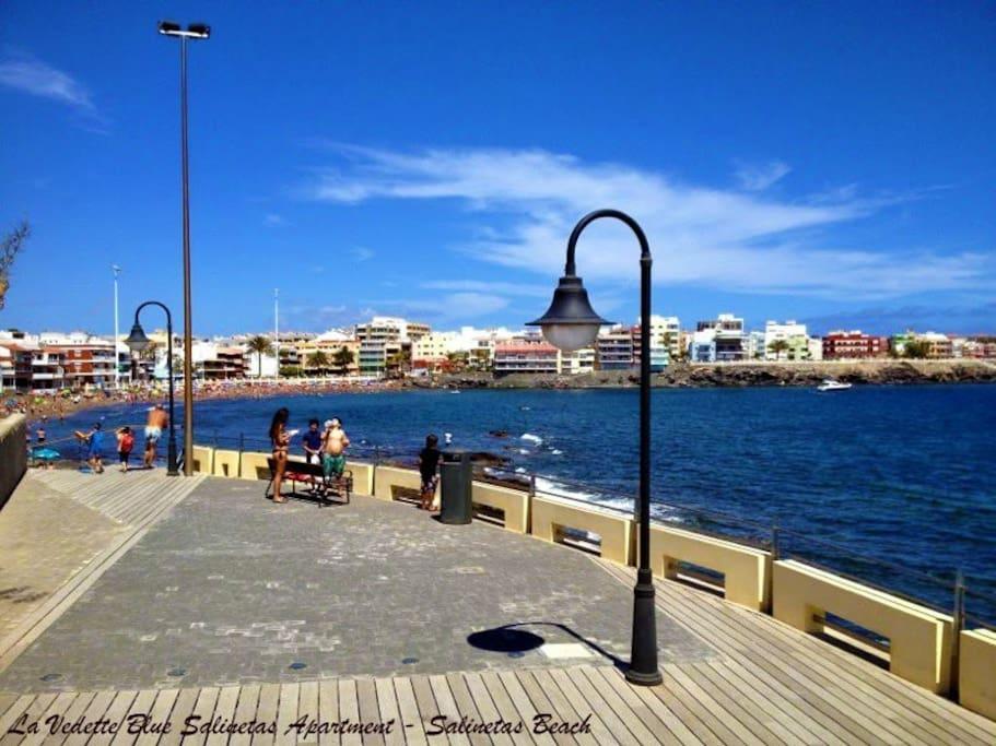 La Vedette Blue - Salinetas Apartment - Gran Canaria - Salinetas Beach at 5min by walk to the apartment