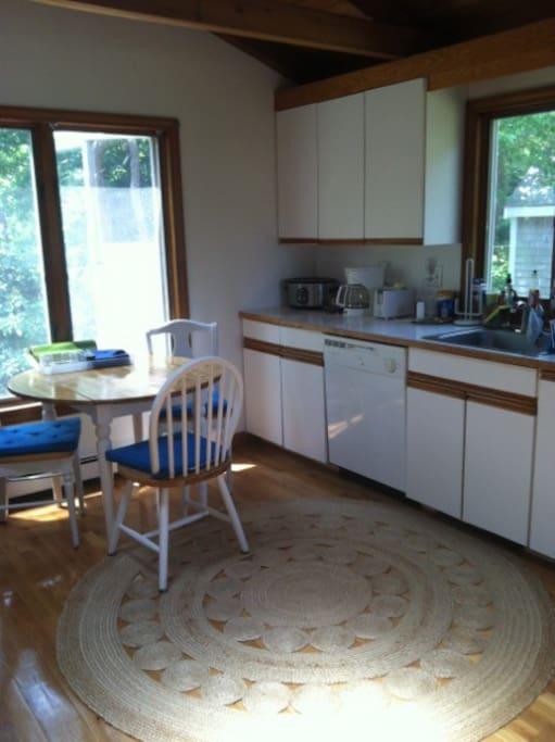 Large working kitchen
