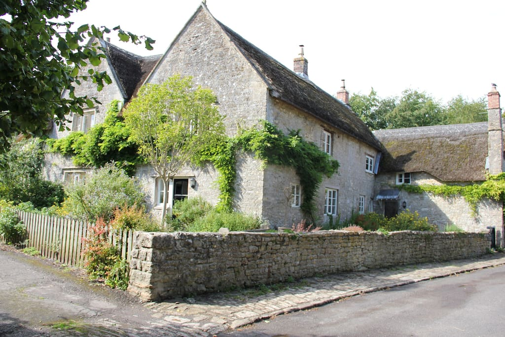view of the whole house from the lane