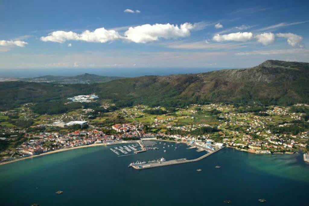 vista aerea del centro d Pobra