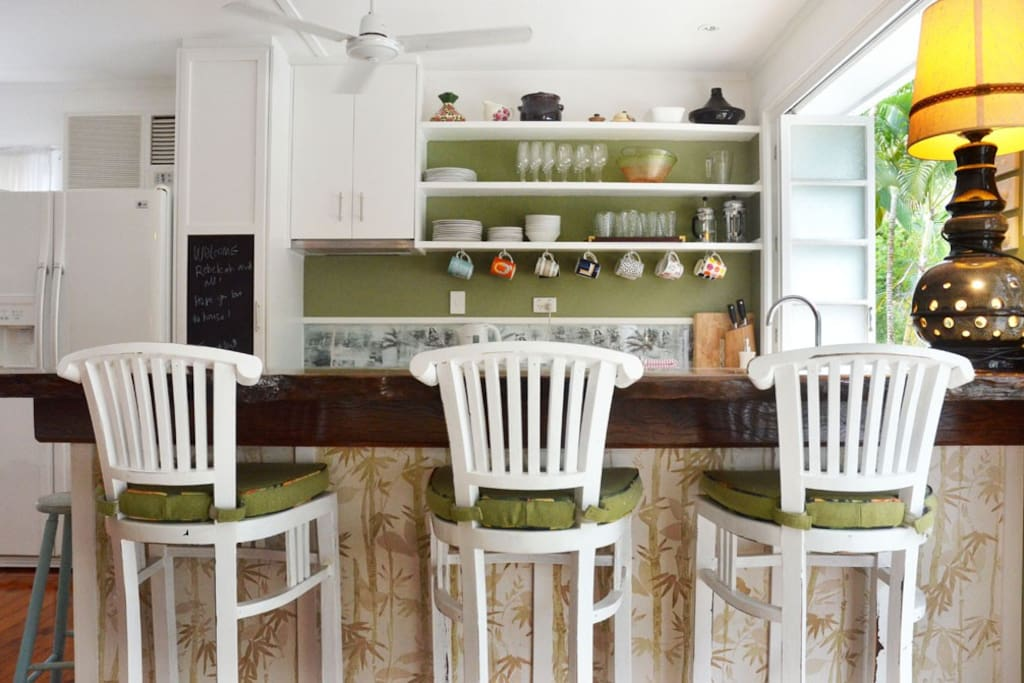 fully self contained kitchen opens to the balcony