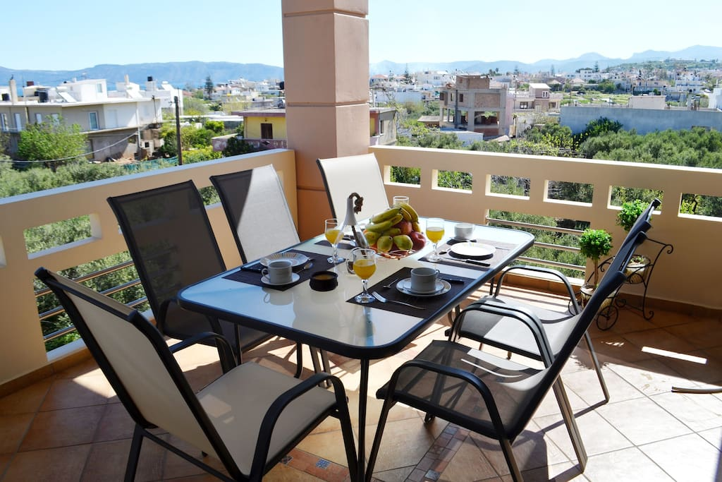 Enjoy your meal in our Sunny Balcony!