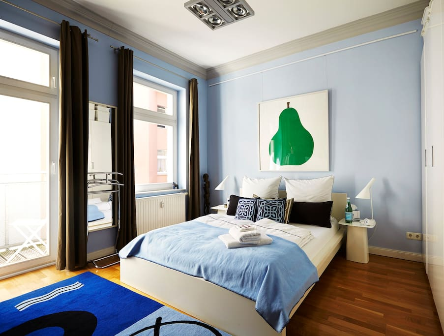 Your room! The green pear print was designed by Enzo Mari in 1963.