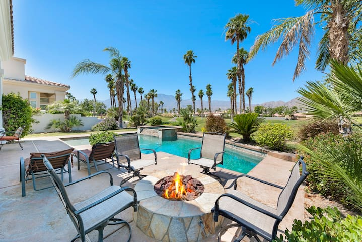 Firepit, West Facing Golf Course Heated Pool Home!