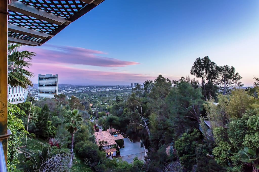 Dusk View of Beverly Hills