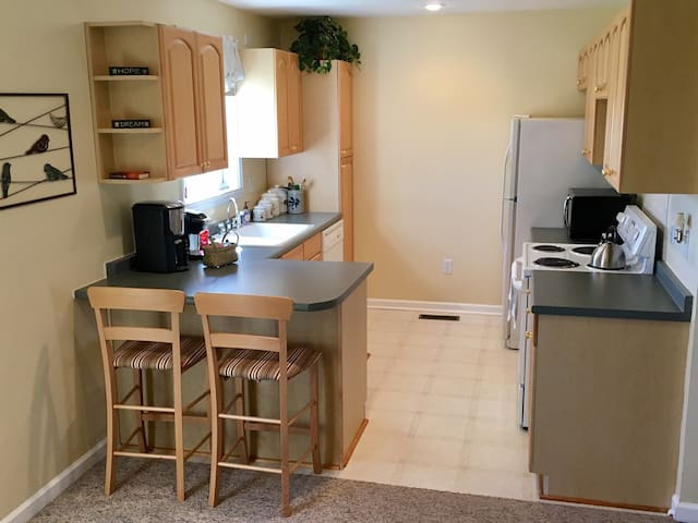 full kitchen with everything you would need to prepare a meal