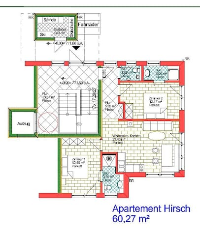 Kaiserappartements - Marie / Appartement Hirsch