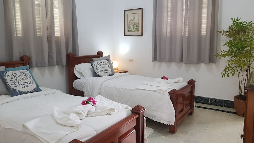 Private room in colonial house in Vedado.