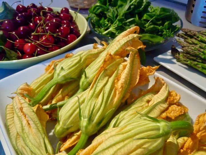 Fresh ingredients from the garden