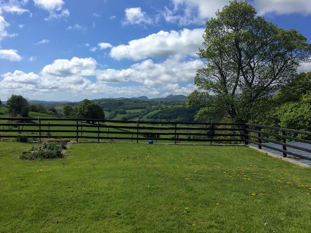 Ochr Cae Forys - views. 1 mile from Bodnant Garden