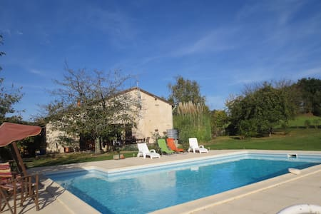 Bois de Belivier - modernised stone farmhouse - Miramont-de-Guyenne - Hus