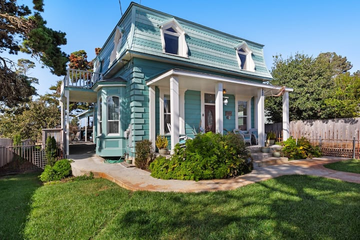 Iconic, remodeled 19th-century home w/ deck & custom kitchen - steps to beach!