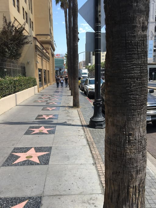 The Hollywood Walk of Fame is LITERALLY stepyys outside of the front door