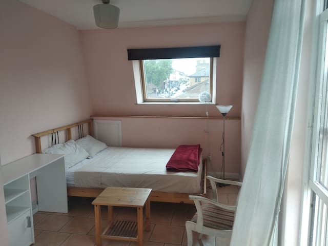 Large double room with a spacious private terrace