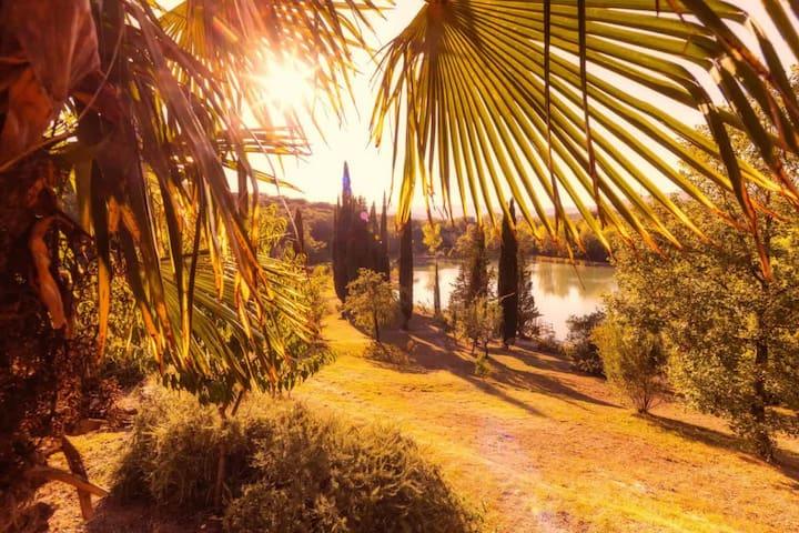 Sant' Anna - DZ 2 in Villa mit schönem Badesee