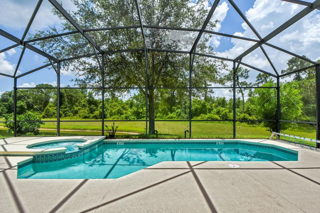 Take time-out to relax on your vacation in and around this crystal clear pool and sun-drenched deck in your home-away-from-home. Make hundreds of happy memories to cherish of your days spend under the Florida sun.