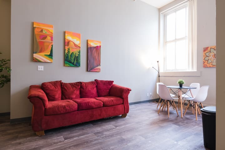 Spacious Apartment in historic Downtown building