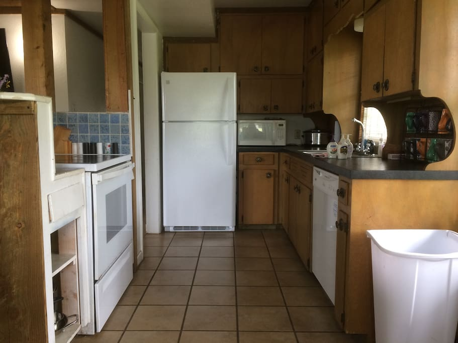 KITCHEN HAS DISHWASHER,  STOVE  FRIDGE