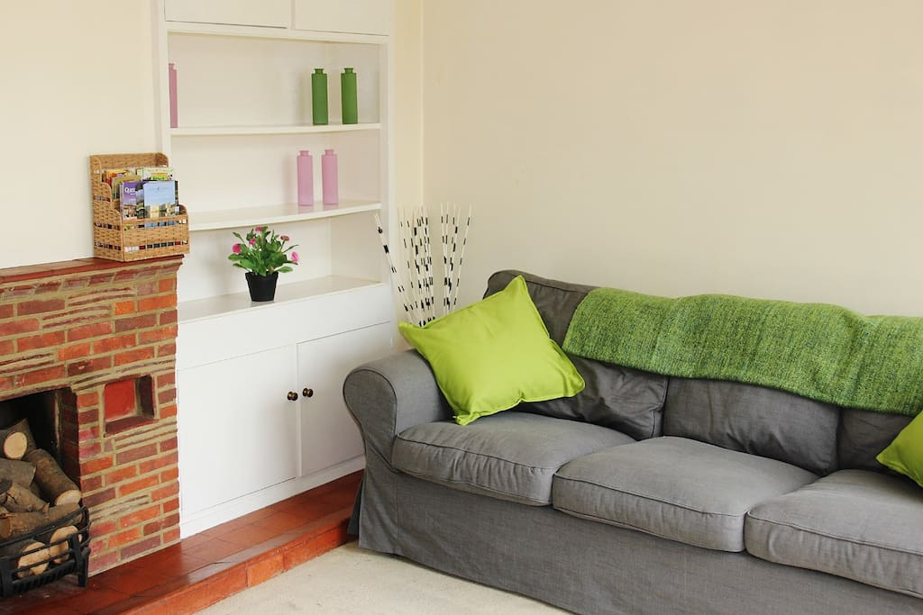 Spacious lounge overlooking the garden, with TV, DVD and lots of films and games
