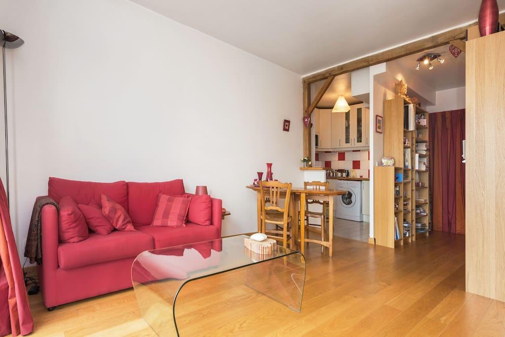 Nid douillet aux buttes chaumont appartements louer - Nid rouge lincroyable appartement paris ...