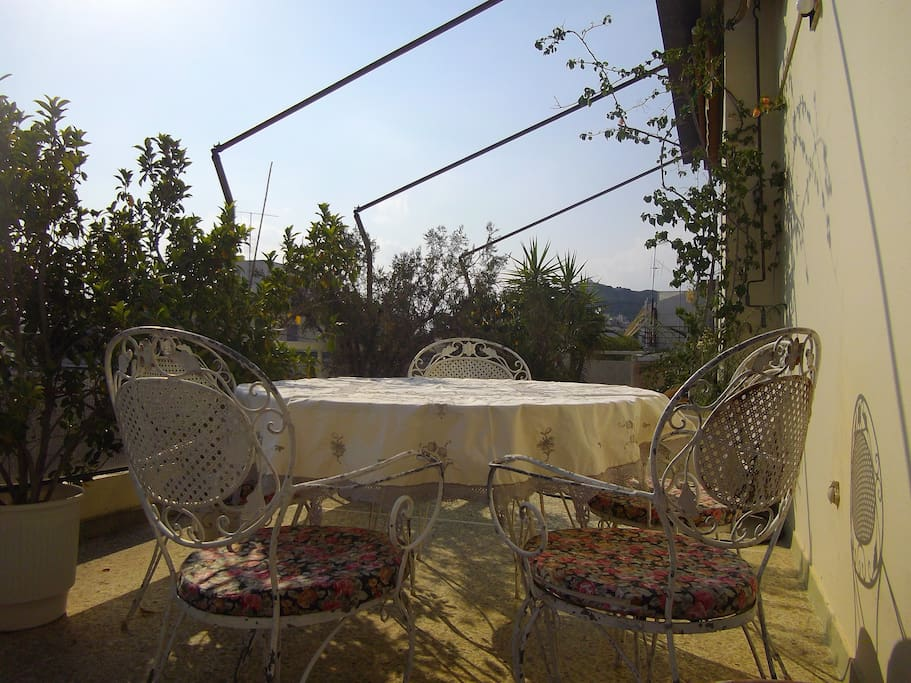 The big veranda-balcony will help you relax and totally forget you are in the very heart of Athens!