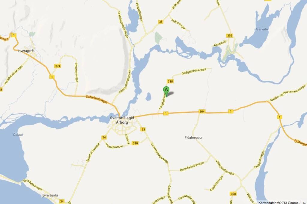 4,5 km bis Selfoss