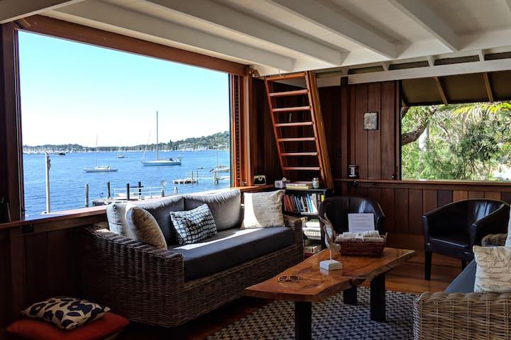 Cosy Timber Studio -The Boathouse- Scotland Island