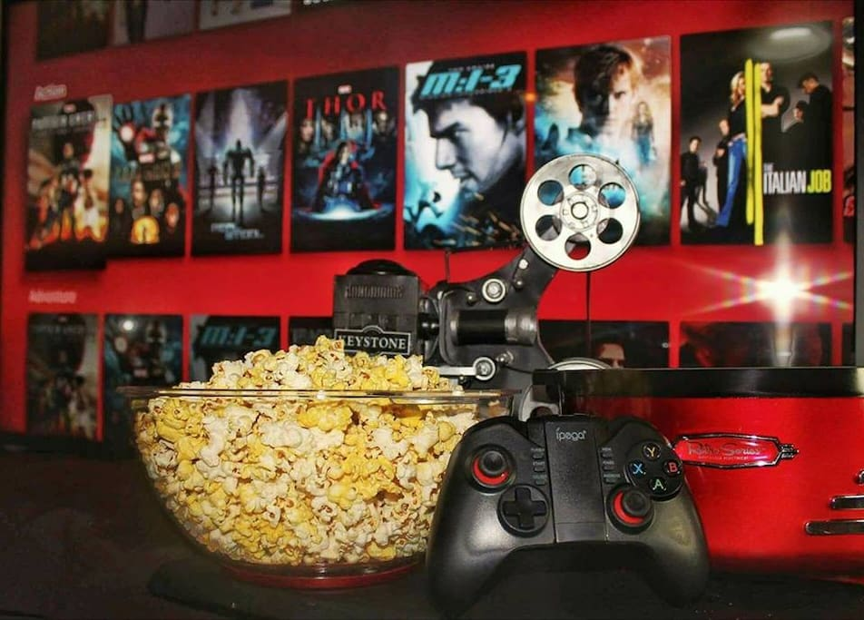 Here's a new way to enjoy your staycation, with movies, games, music and good food!