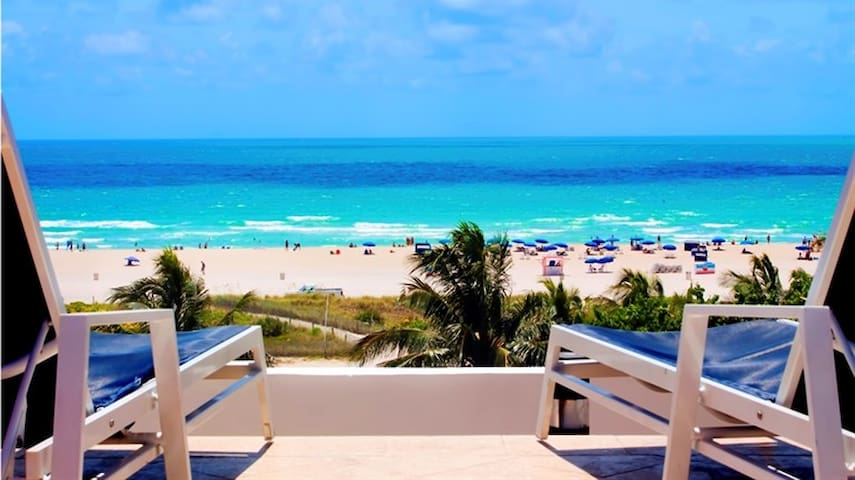 Ocean Dr Luxury Beachfront Studio. Ocean View Pool - Miami Beach - Apartment