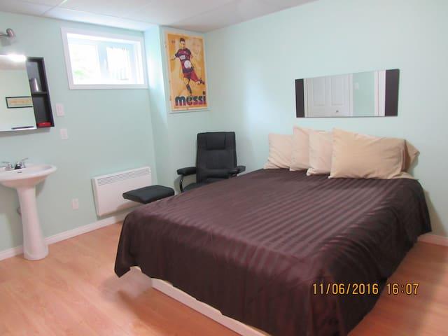 Chambre D incluant lavabo avec Suite Familiale.