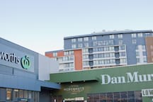 Supermarket - Large Woolworths, 3 minutes walk from the apartment.