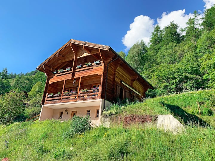 Large, comfortable & charming chalet in Evolène