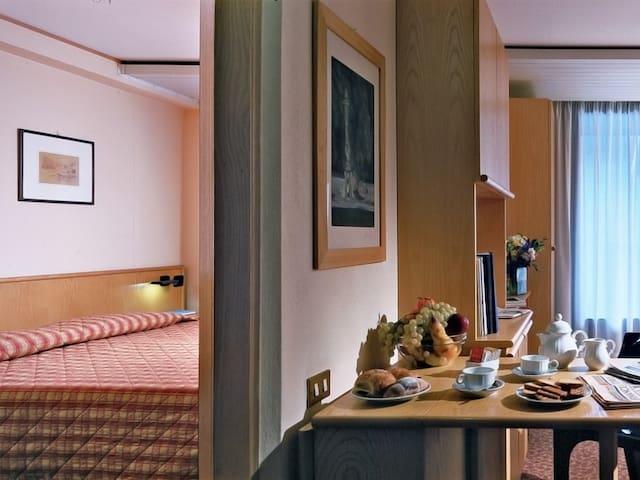 La camera d'albergo