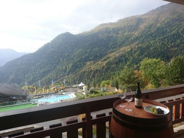 Magnifique appartement dans les bains d'Ovronnaz - Leytron - Selveierleilighet