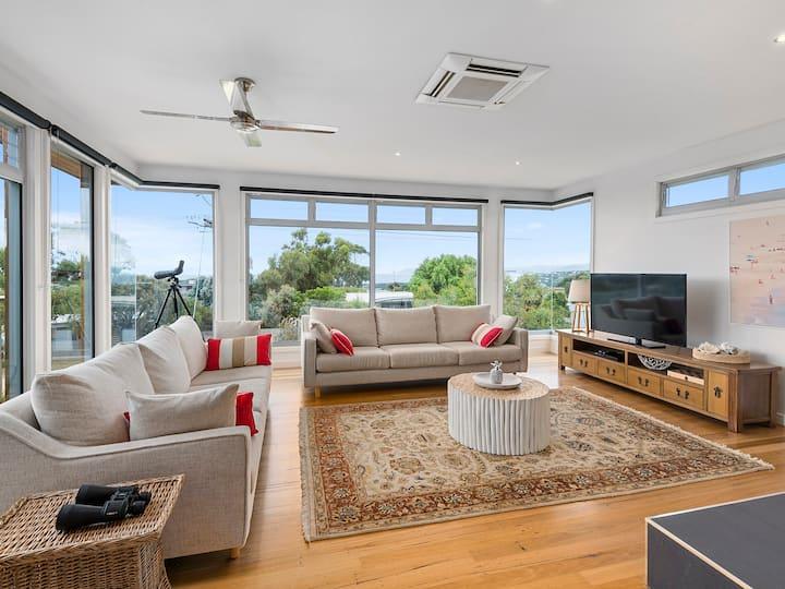 Coastal Beach House Elegance with Stunning Views