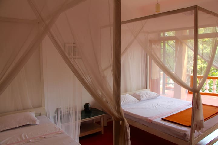 Double Room 6 in peaceful yoga centre setting