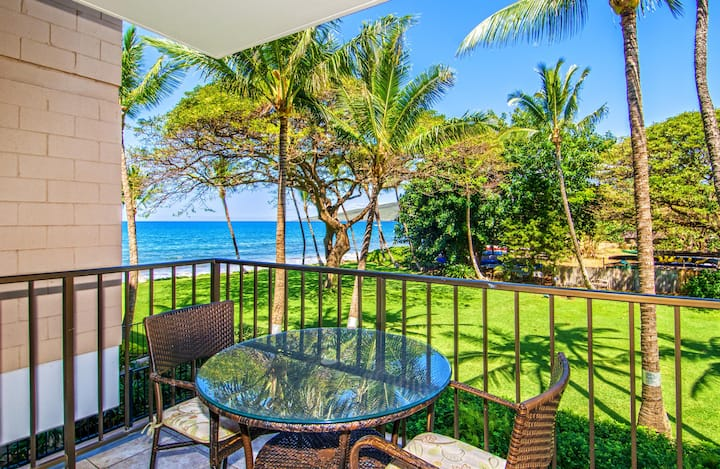 KR208- Park and Ocean View Condo in Beach Front Resort;Quiet White Sand Beach