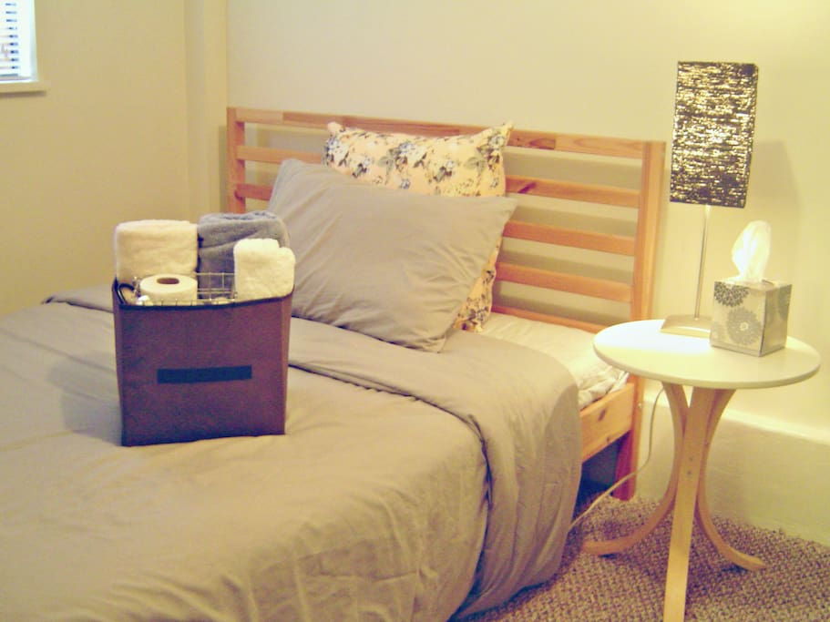 Private space: bedroom with double bed