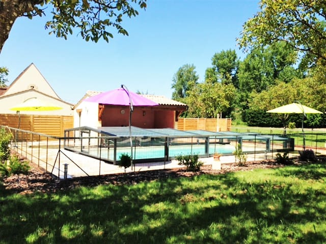 TWO SPACIOUS WOODEN HOUSES WITH AC + PRIVATE POOL