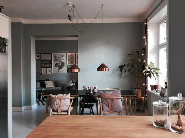 Beautiful large apartment in SOFO - Stockholm - Appartement en résidence