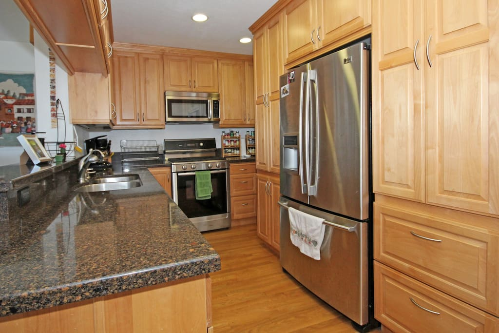 Recently remodeled kitchen offers all you will need with grace and style.